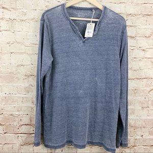 Lucky Brand Venice burnout shirt